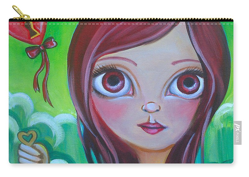 Pop Carry-all Pouch featuring the painting Holding The Key by Jaz Higgins