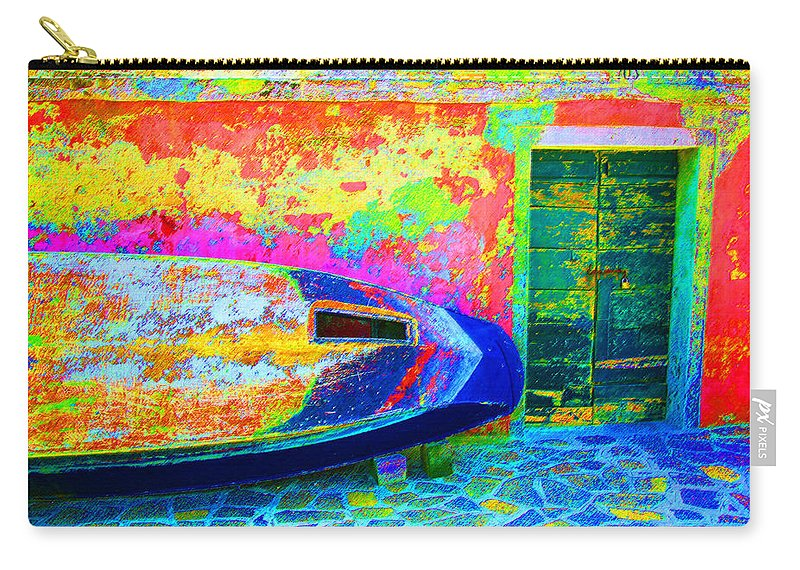 Digital Pastel Carry-all Pouch featuring the digital art Hole In The Boat by Donna Corless