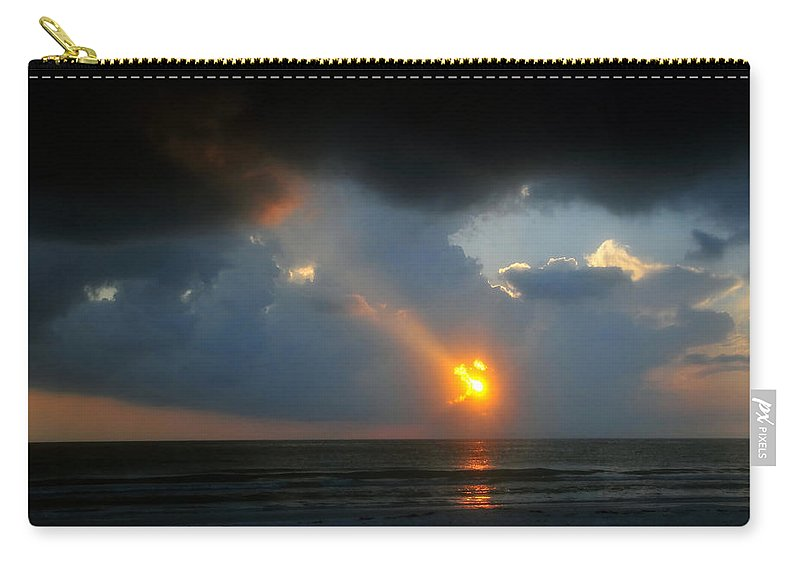 Beach Carry-all Pouch featuring the photograph Hole In The Gulf by David Lee Thompson