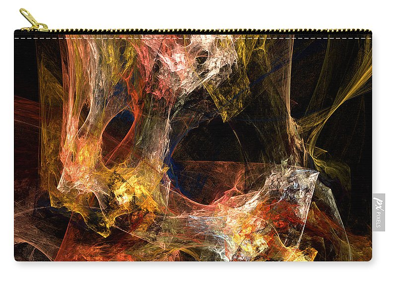 Abstract Carry-all Pouch featuring the digital art Holes by Ruth Palmer