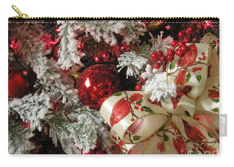 Tree Carry-all Pouch featuring the photograph Holiday Cheer I by Maria Bonnier-Perez