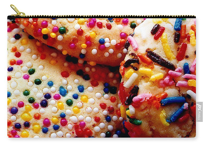 Cookie Carry-all Pouch featuring the photograph Holiday Cookies by Nancy Mueller