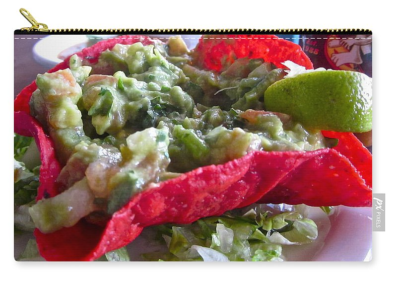 Photograph Of Quacamole Carry-all Pouch featuring the photograph Holiday Dip by Gwyn Newcombe