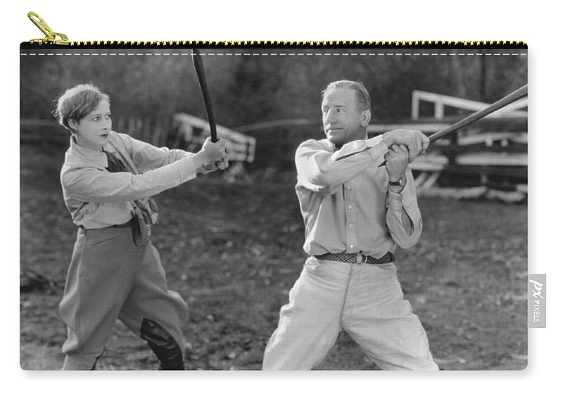 1920s Carry-all Pouch featuring the photograph Hollywood Battles by Underwood Archives