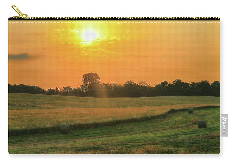 Holmes County Sunrise Carry-all Pouch featuring the photograph Holmes County Sunrise by Dan Sproul
