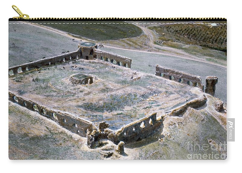 1950s Carry-all Pouch featuring the photograph Holy Land: Caravansary by Granger