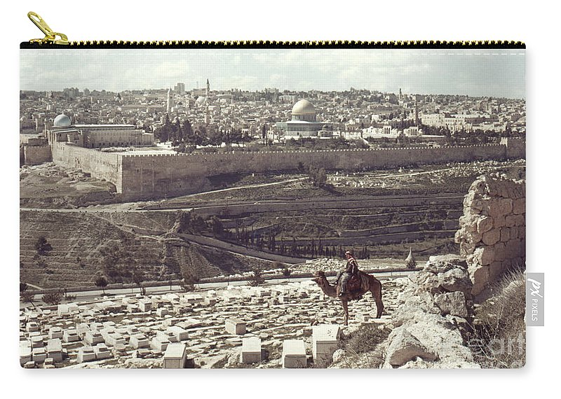 Camel Carry-all Pouch featuring the photograph Holy Land: Jerusalem by Granger