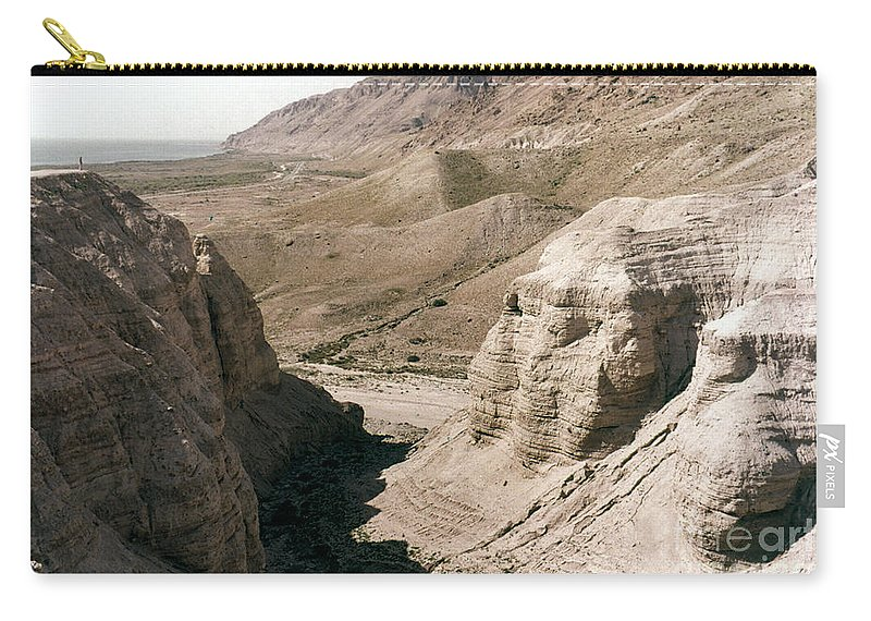 Ancient Carry-all Pouch featuring the photograph Holy Land: Qumran Caves by Granger