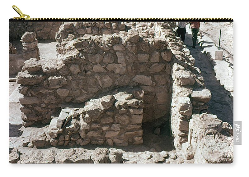 Ancient Carry-all Pouch featuring the photograph Holy Land: Qumran Ruins by Granger