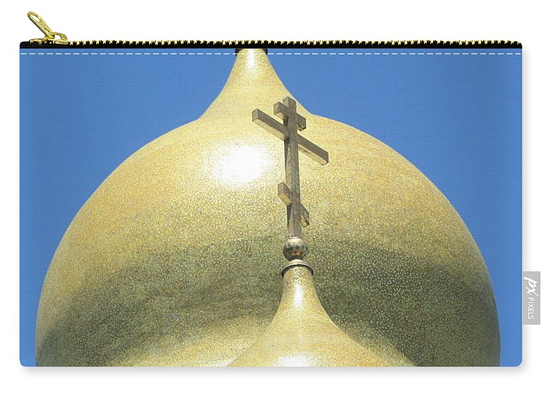 Holy Virgin Cathedral Carry-all Pouch featuring the photograph Holy Virgin Cathedral In San Francisco by Carol Groenen