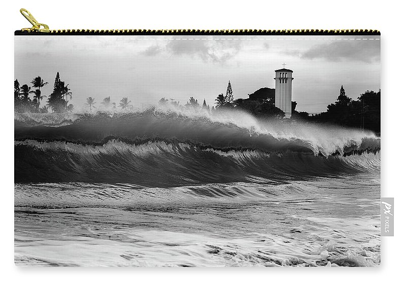 Wave Carry-all Pouch featuring the photograph Holy Water by Sean Davey