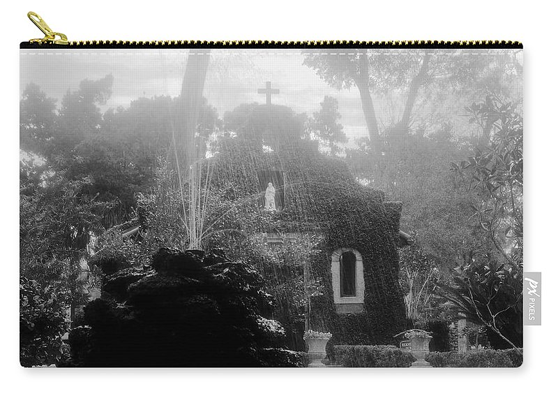 Fountain Carry-all Pouch featuring the photograph Holy Waters by David Lee Thompson