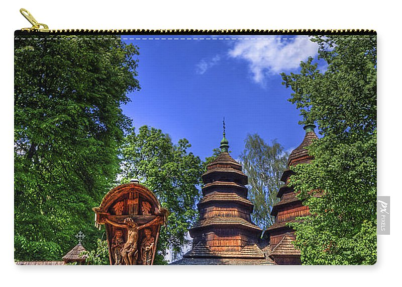 Church Carry-all Pouch featuring the photograph Holy Wood by Evelina Kremsdorf