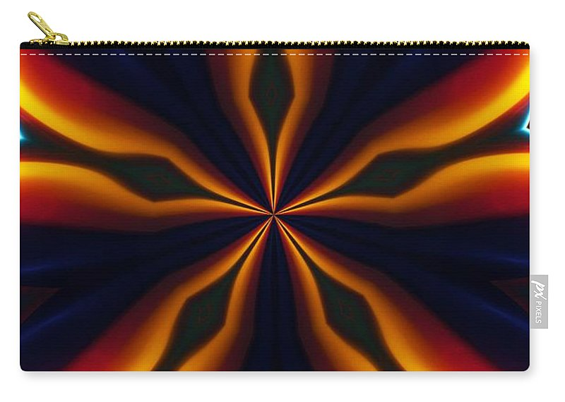 Abstract Carry-all Pouch featuring the digital art Homage to Georgia O'Keeffe by David Lane