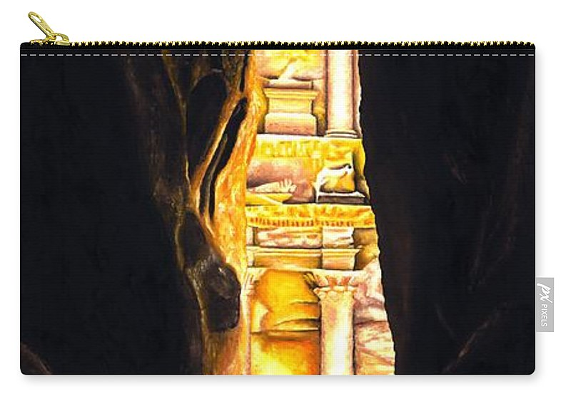 Bellydancer Carry-all Pouch featuring the painting Homage To Petra by Richard Young