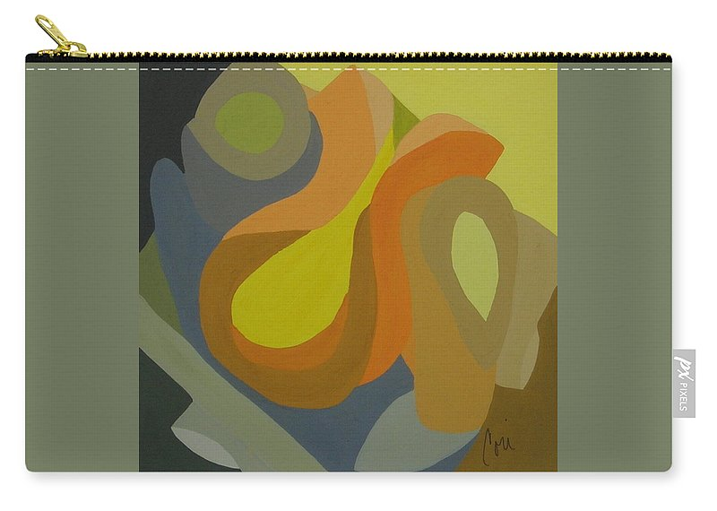 Abstract Carry-all Pouch featuring the painting Homage To The 70's by Cori Solomon