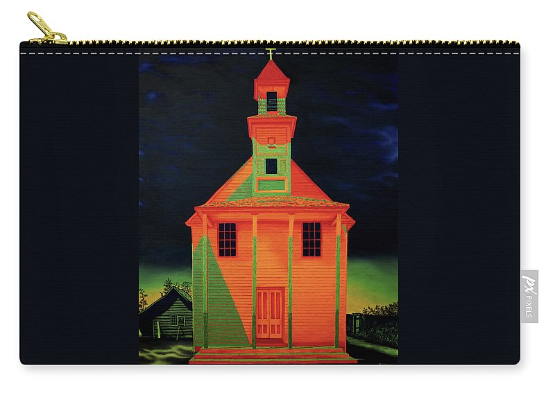 Walker Evans Carry-all Pouch featuring the painting Homage To Walker Evans by Joe Michelli