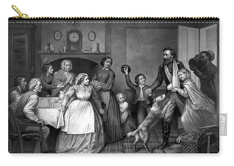 Coming Home Carry-all Pouch featuring the painting Home Again - Civil War by War Is Hell Store