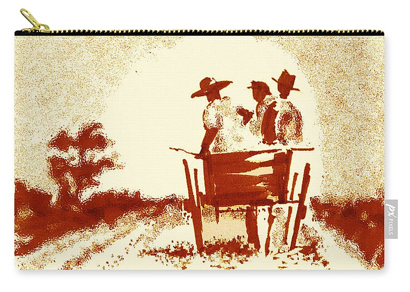 Old South Carry-all Pouch featuring the digital art Home Before Dark by Seth Weaver