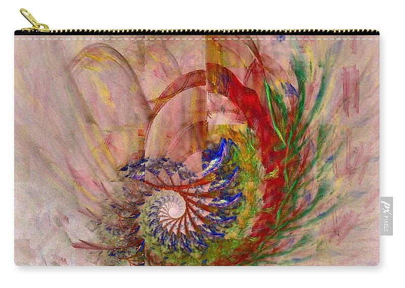 Non-representational Carry-all Pouch featuring the digital art Home By The Sea by NirvanaBlues