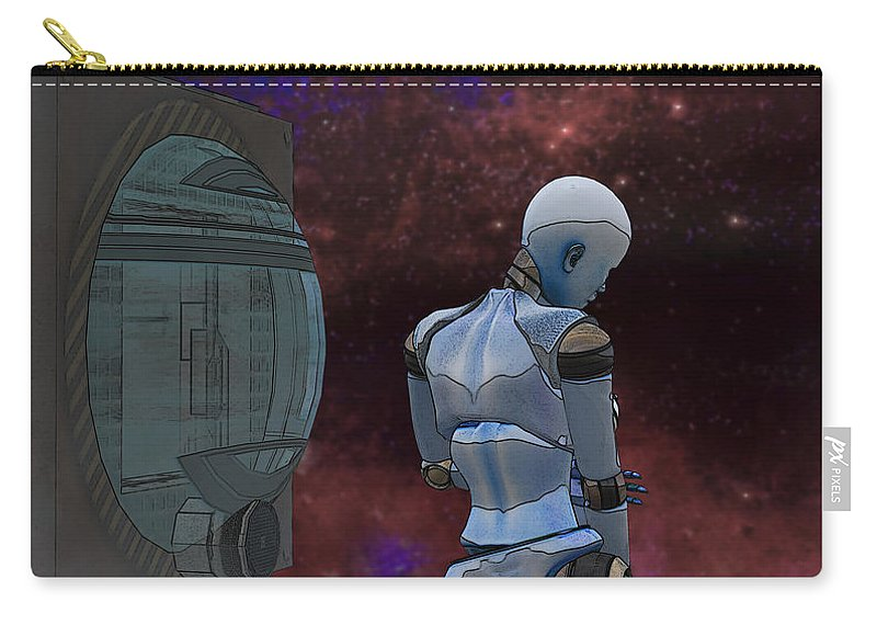 Home Carry-all Pouch featuring the digital art Home Sick by Brainwave Pictures