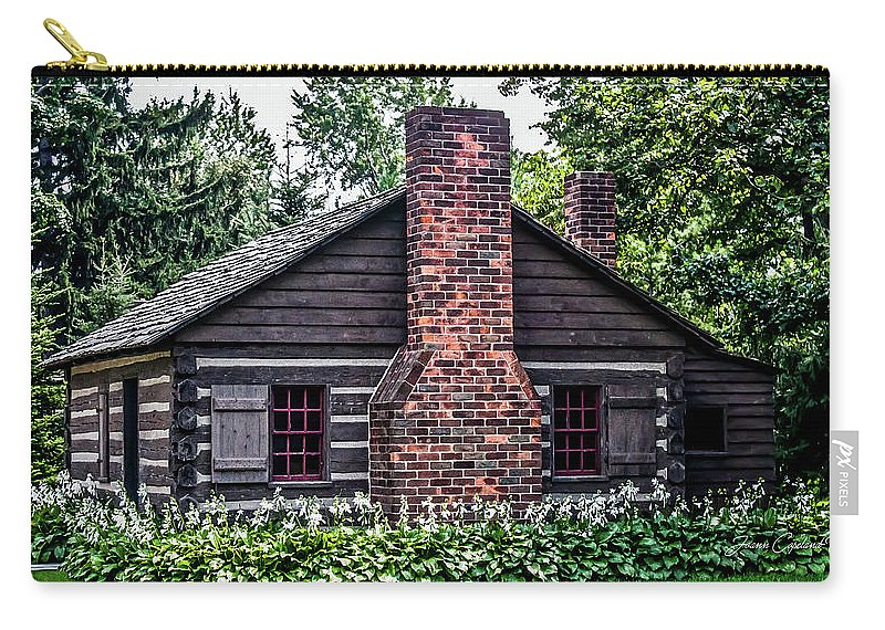 Old Cabin Carry-all Pouch featuring the photograph Home Sweet Home by Joann Copeland-Paul