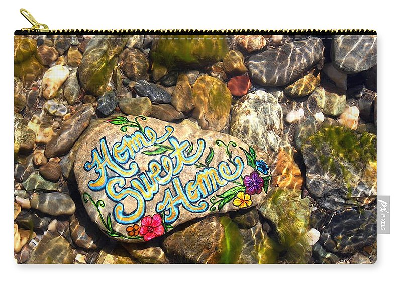 Carry-all Pouch featuring the photograph Home Sweet Home Mosaic by Kathy Partak