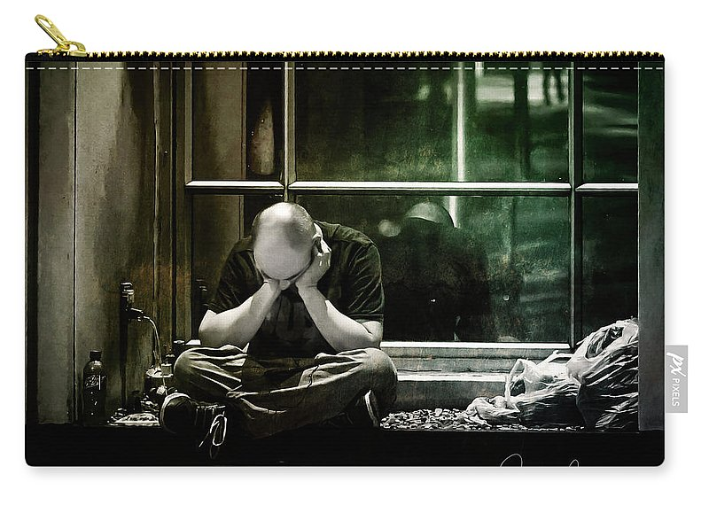 Homeless Carry-all Pouch featuring the photograph Homeless by Jacki Marino
