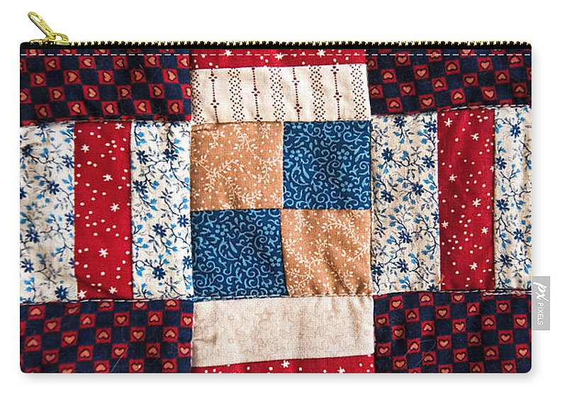 Quilt Carry-all Pouch featuring the photograph Homemade Quilt by Christopher Holmes