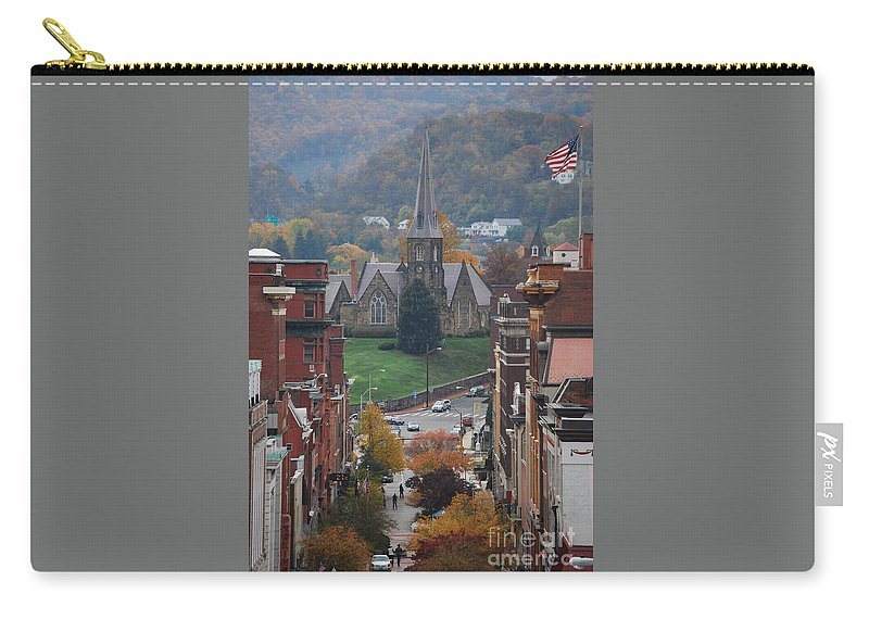 Cumberland Carry-all Pouch featuring the photograph My Hometown Cumberland, Maryland by Eric Liller