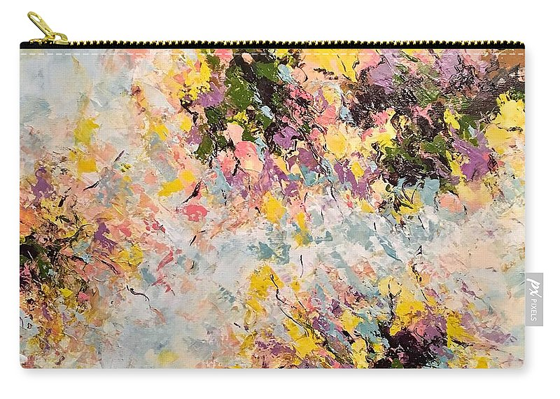 Abstract Art Carry-all Pouch featuring the painting Homeward Bound by Suzzanna Frank