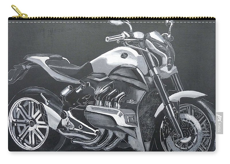 Honda Carry-all Pouch featuring the painting Honda Concept Evo 6 by Richard Le Page