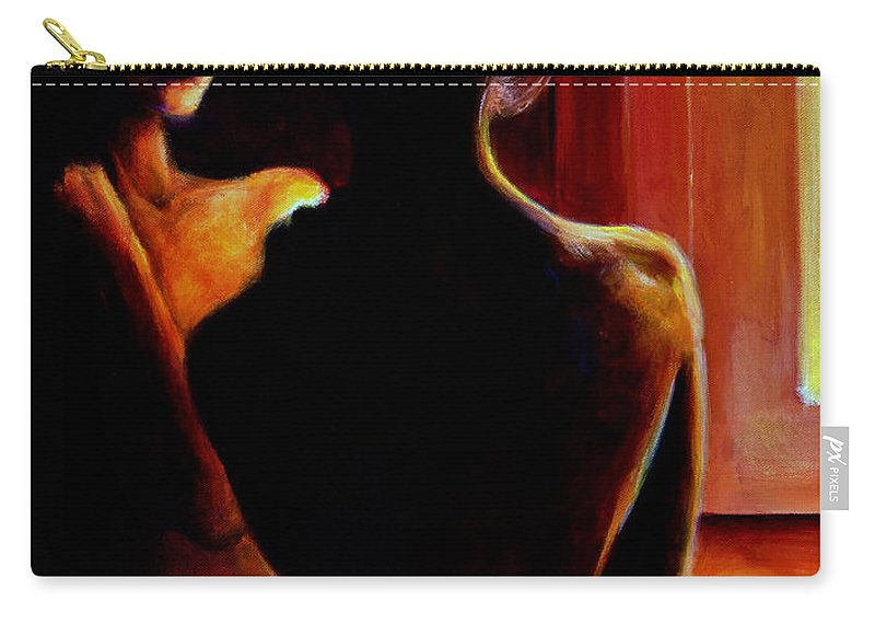 Nude Carry-all Pouch featuring the painting Honestly by Jason Reinhardt