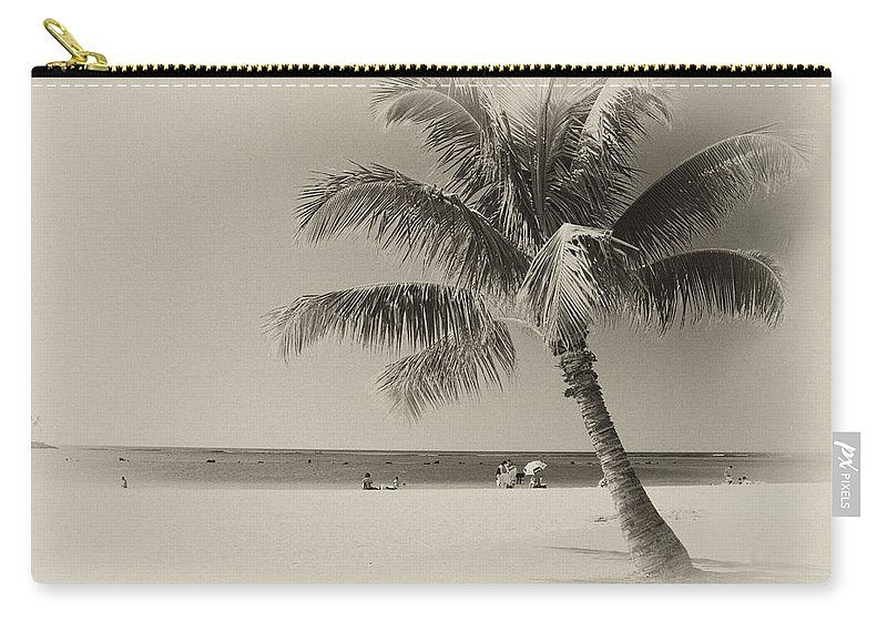 Landscape Carry-all Pouch featuring the photograph Honolulu Beach by Michael Peychich