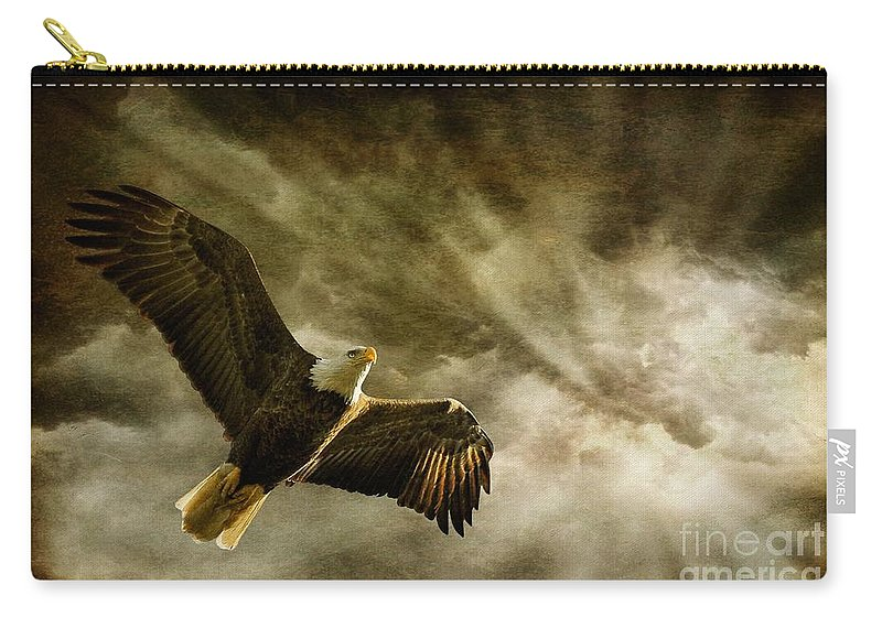 Eagles Carry-all Pouch featuring the photograph Honor Bound by Lois Bryan