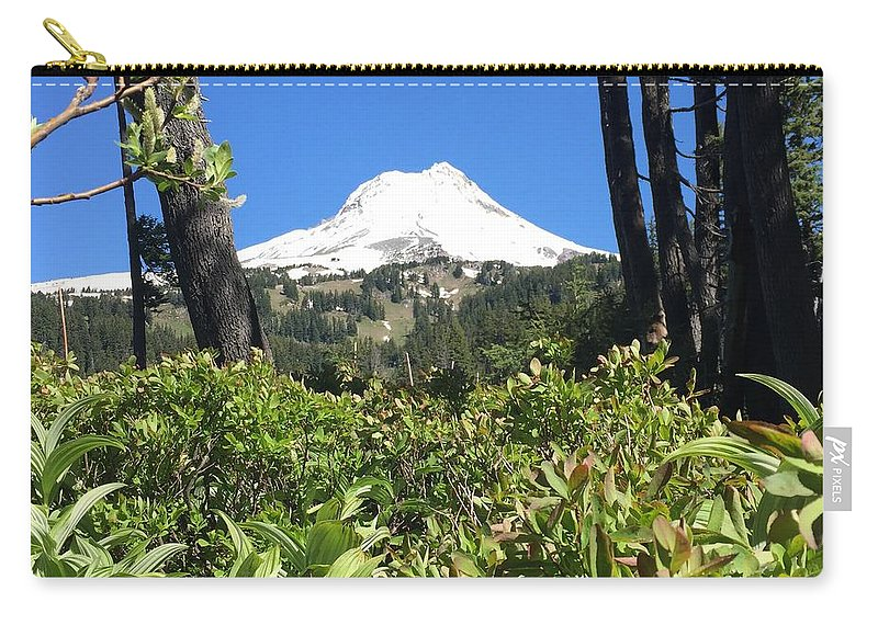 Mountain Carry-all Pouch featuring the photograph Hood View by Amanda Dresen