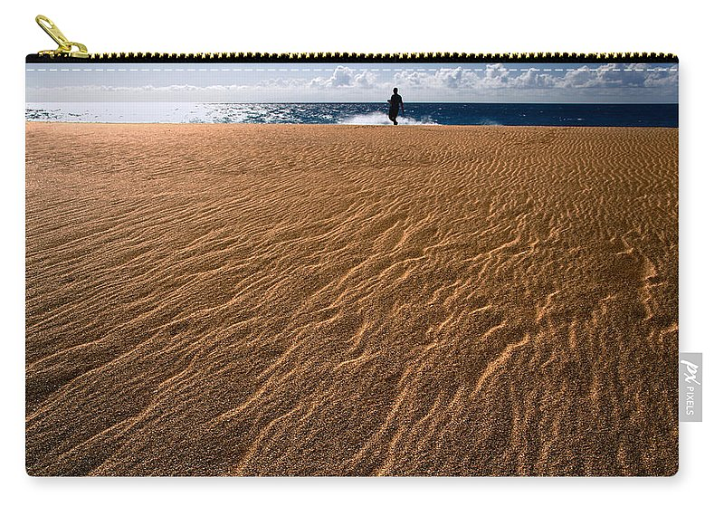 Coastals Carry-all Pouch featuring the photograph Ho'okahi - A Stroll Along A Beach by Nature Photographer