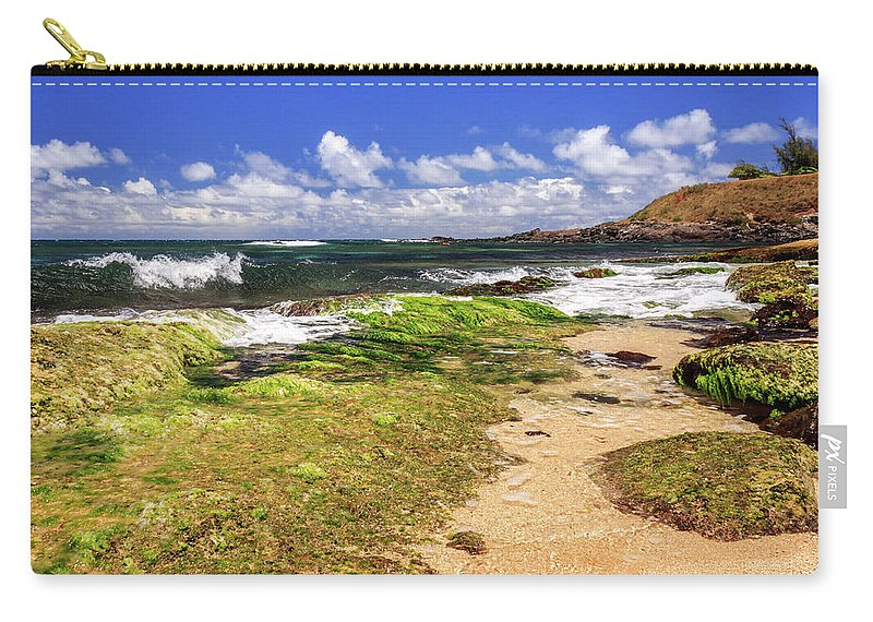 Ho'okipa Beach Carry-all Pouch featuring the photograph Ho'okipa Beach Maui by James Eddy