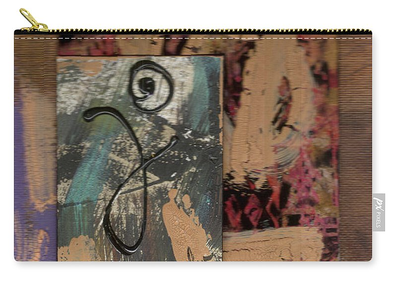 Wood Carry-all Pouch featuring the mixed media Hooray by Angela L Walker