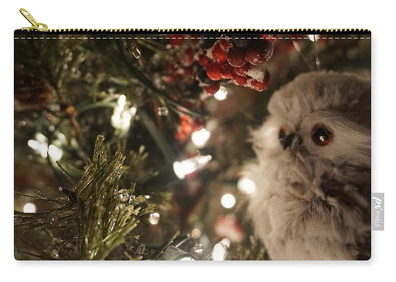 Winter Carry-all Pouch featuring the photograph Hooty Owl by Susan Brown