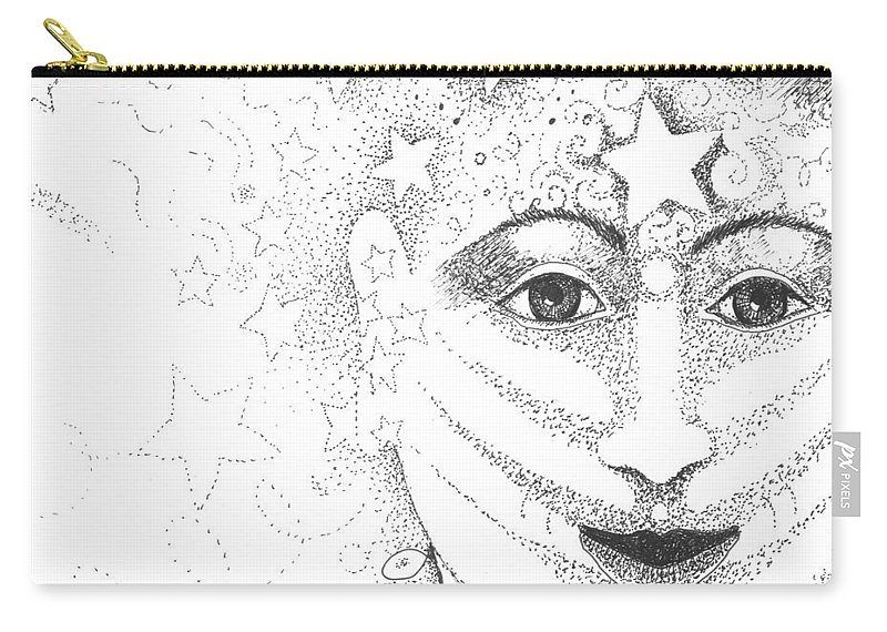 Hope Carry-all Pouch featuring the drawing Hope And Rebirth by Helena Tiainen