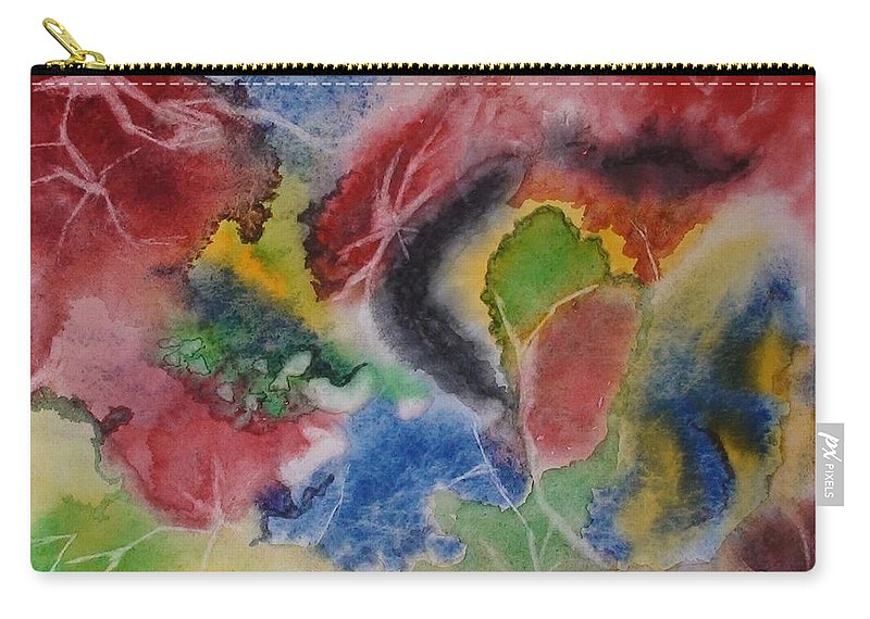 Abstract Painting Carry-all Pouch featuring the painting Hope Energy by Georgeta Blanaru