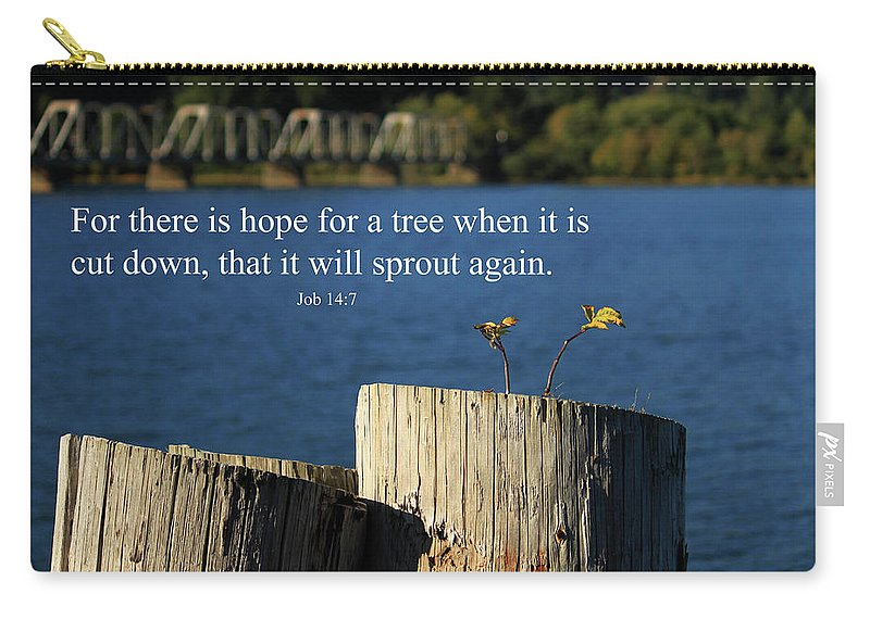 Inspirational Carry-all Pouch featuring the photograph Hope For A Tree by James Eddy