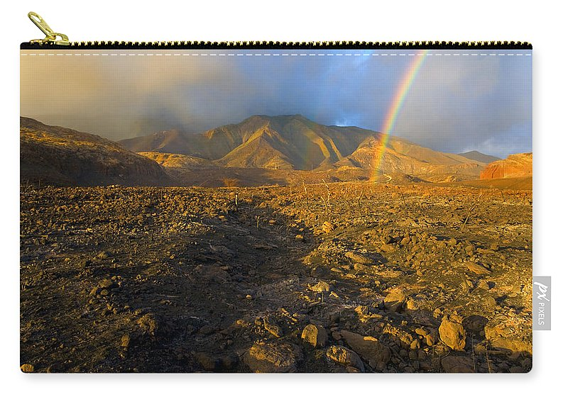 Rainbow Carry-all Pouch featuring the photograph Hope From Desolation by Mike Dawson