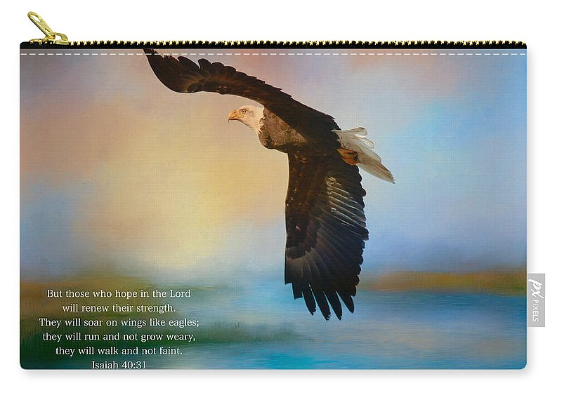 Hope In The Lord Carry-all Pouch featuring the photograph Hope In The Lord by Lynn Hopwood