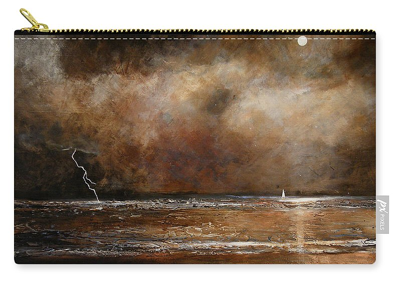 Abstract Carry-all Pouch featuring the painting Hope On The Horizon by Toni Grote