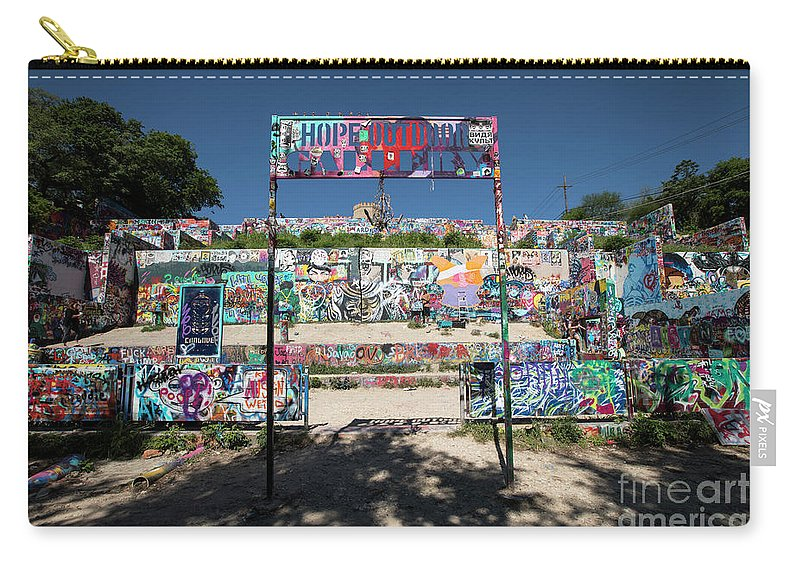 Hope Outdoor Gallery Austin Texas Graffiti Wall Carry All Pouch