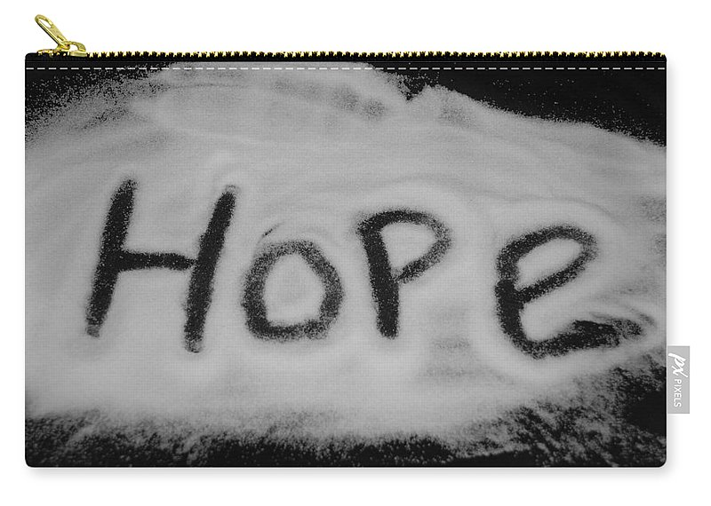 Black And White Carry-all Pouch featuring the photograph Hope by Rob Hans