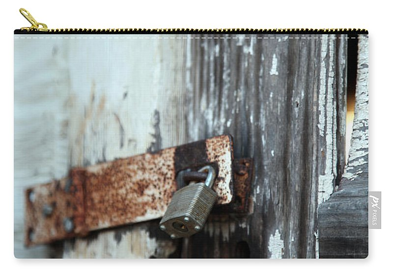 hopelessly Locked Carry-all Pouch featuring the photograph Hopelessly Locked by Amanda Barcon