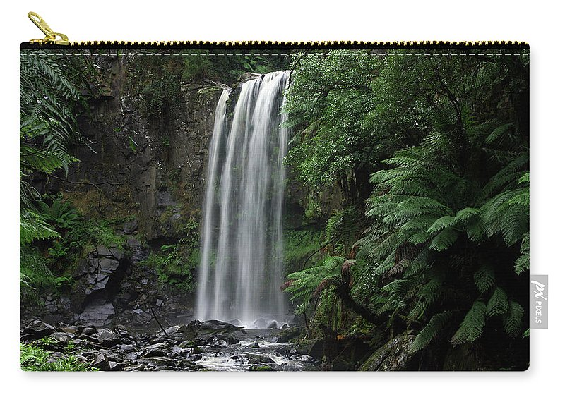 Landscape Carry-all Pouch featuring the photograph Hopetoun Falls by Marion Cullen